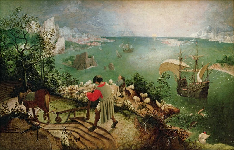 Pieter Brueghel cel Bătrân - Caderea lui Icarus
