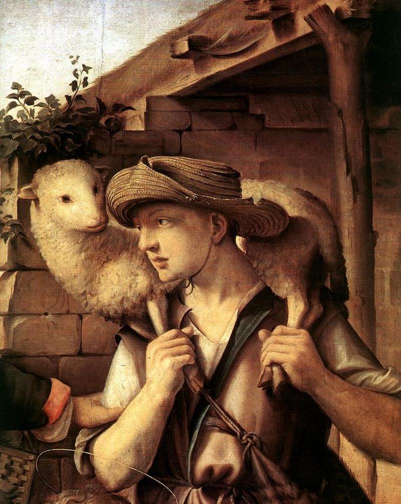 Adoratia Pastorilor - Detaliu