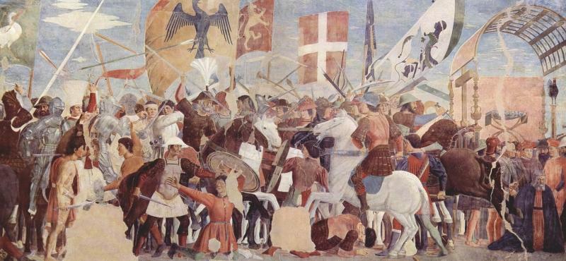Piero de' Francesca - Bătălia dintre Heraclius și Chsroes